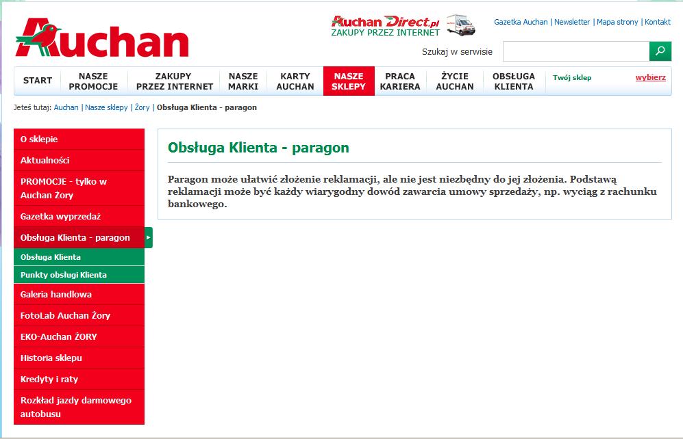 Paragon może ułatwić złożenie reklamacji – wnioski po decyzji zobowiązującej UOKiK wobec Auchan