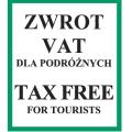 znak TAX FREE