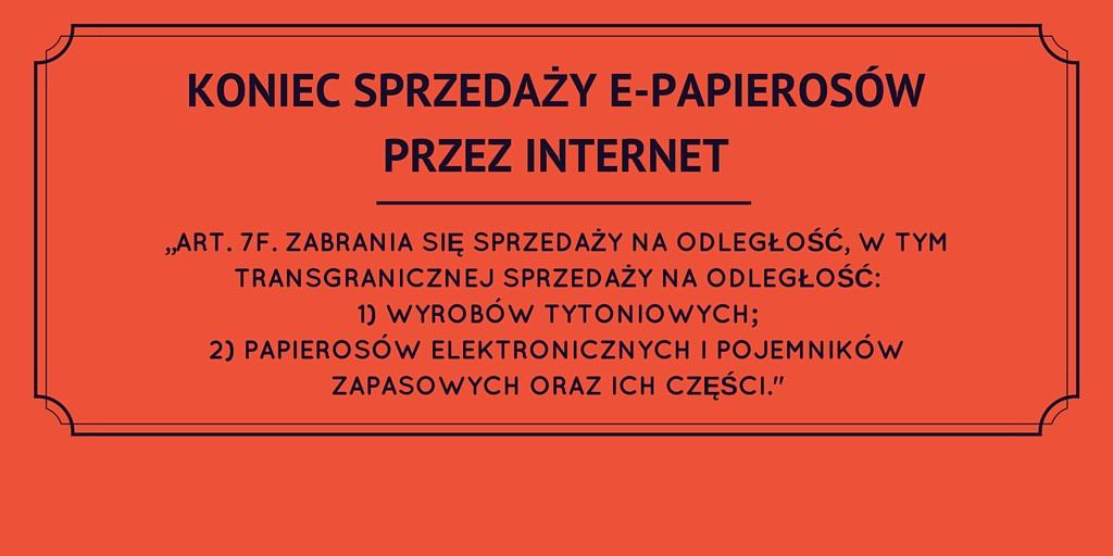 Nawet 200 tys. zł grzywny za sprzedaż przez Internet wyrobów tytoniowych oraz papierosów elektronicznych od 8 września 2016 r. – zmiany w ustawie tytoniowej