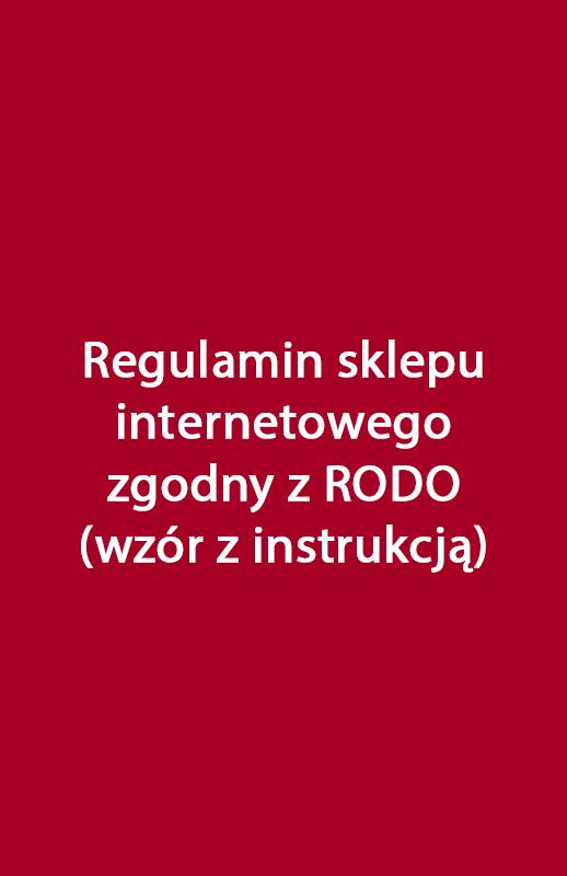 8a3e6b4c31b3d0 Wzór regulaminu sklepu internetowego zgodny z RODO