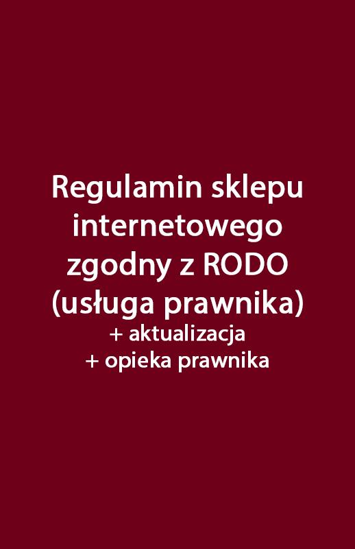 e94034caed4445 Regulamin sklepu internetowego i polityka prywatności zgodne z RODO