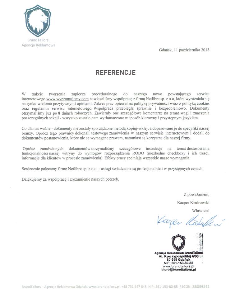 a87326d797e4d3 Opinie Klientów Prokonsumencki.pl - Regulamin sklepu internetowego ...