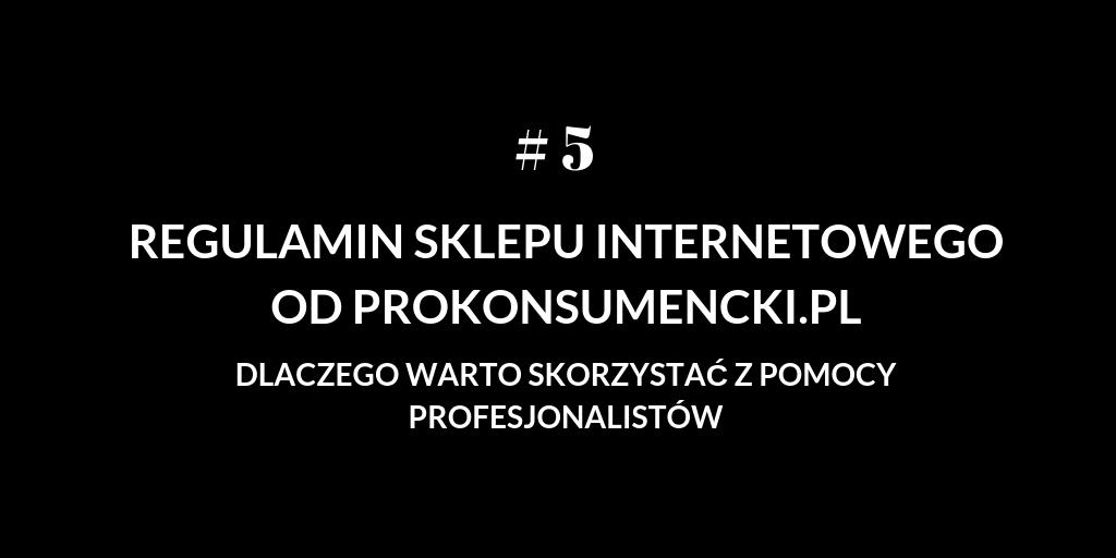 Jak regulamin sklepu internetowego od Prokonsumencki.pl pomaga Sprzedawcy? # 5 Ograniczenie odpowiedzialności sprzedawcy w stosunku do klientów biznesowych