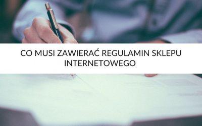 Co musi zawierać regulamin sklepu internetowego